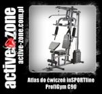inSPORTline Atlas do ćwiczeń ProfiGym C90 - ACTIVE ZONE
