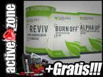 NATURALS Premium ZESTAW Burn Off 60 kaps+Alpha Up 60 kaps+ Revive Pure Amino&BCAA 400g - ACTIVE ZONE