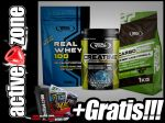 Real Pharm ZESTAW Creatine 500g + Real Whey 100 700g + CarbOne 1kg - ACTIVE ZONE
