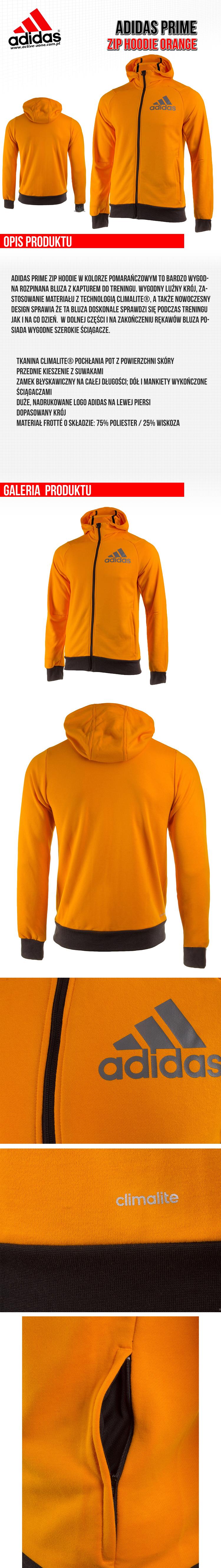 Adidas Prime Zip hoodie Orange(1)