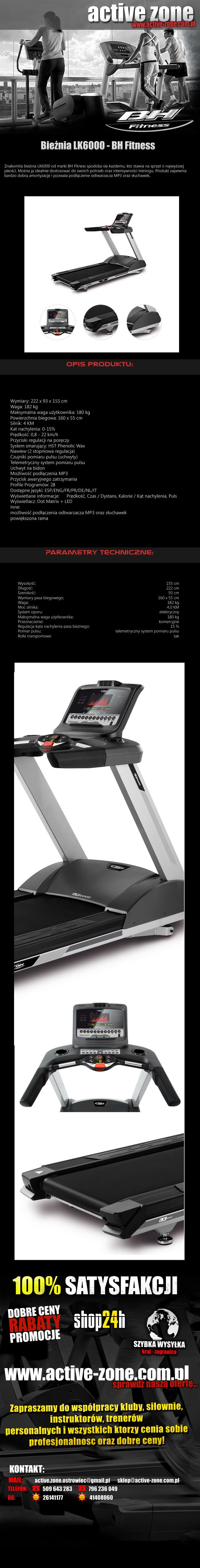 Bieżnia LK6000 - BH Fitness 1