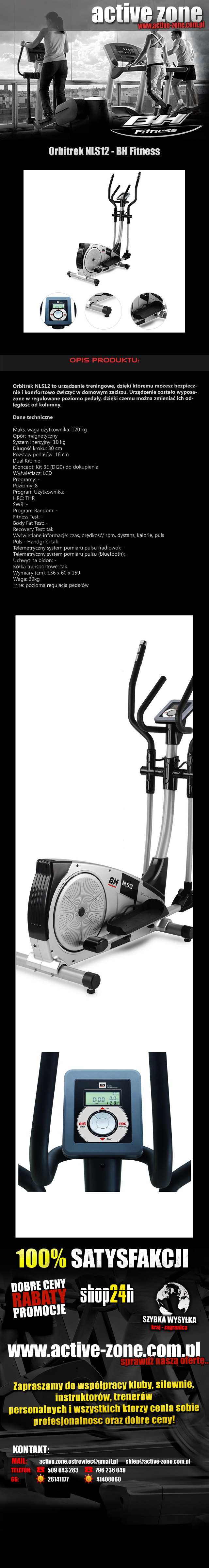 Orbitrek NLS12 - BH Fitness 1