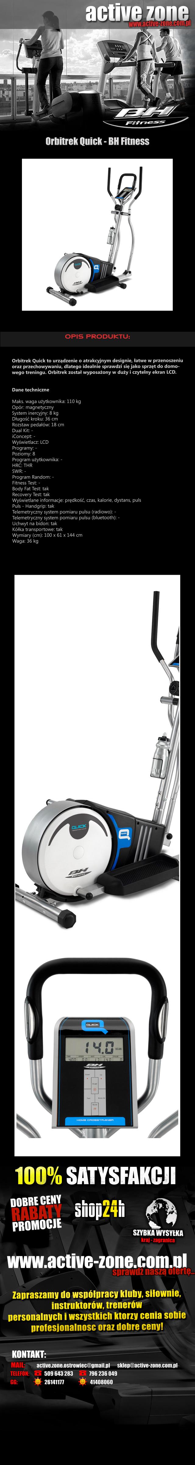 Orbitrek magnetyczny Quick - BH Fitness