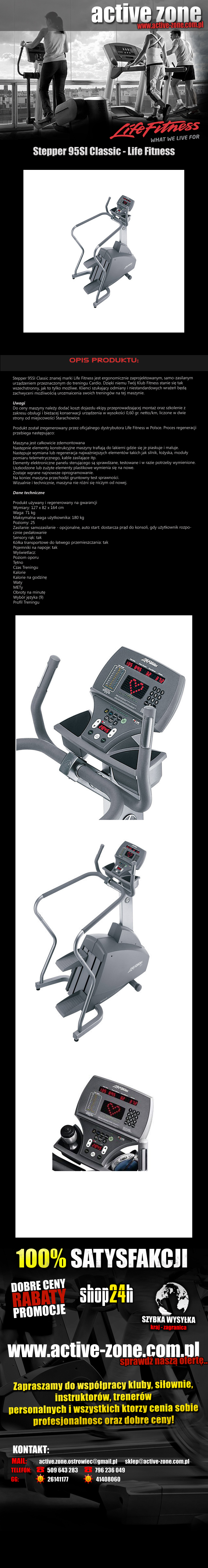Stepper 95SI Classic - Life Fitness 1